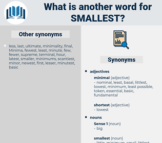 smallest, synonym smallest, another word for smallest, words like smallest, thesaurus smallest