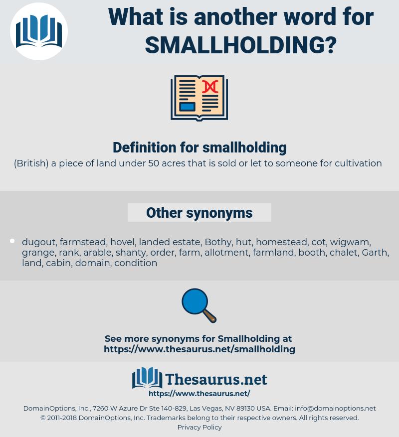 smallholding, synonym smallholding, another word for smallholding, words like smallholding, thesaurus smallholding