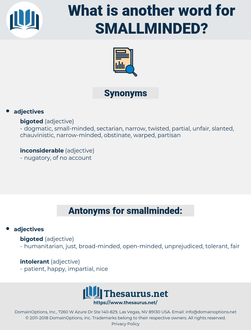 smallminded, synonym smallminded, another word for smallminded, words like smallminded, thesaurus smallminded