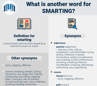 smarting, synonym smarting, another word for smarting, words like smarting, thesaurus smarting