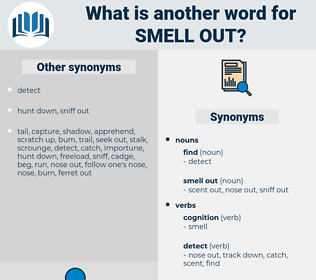 smell out, synonym smell out, another word for smell out, words like smell out, thesaurus smell out