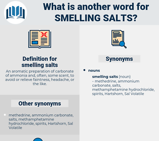 smelling salts, synonym smelling salts, another word for smelling salts, words like smelling salts, thesaurus smelling salts
