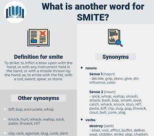 smite, synonym smite, another word for smite, words like smite, thesaurus smite