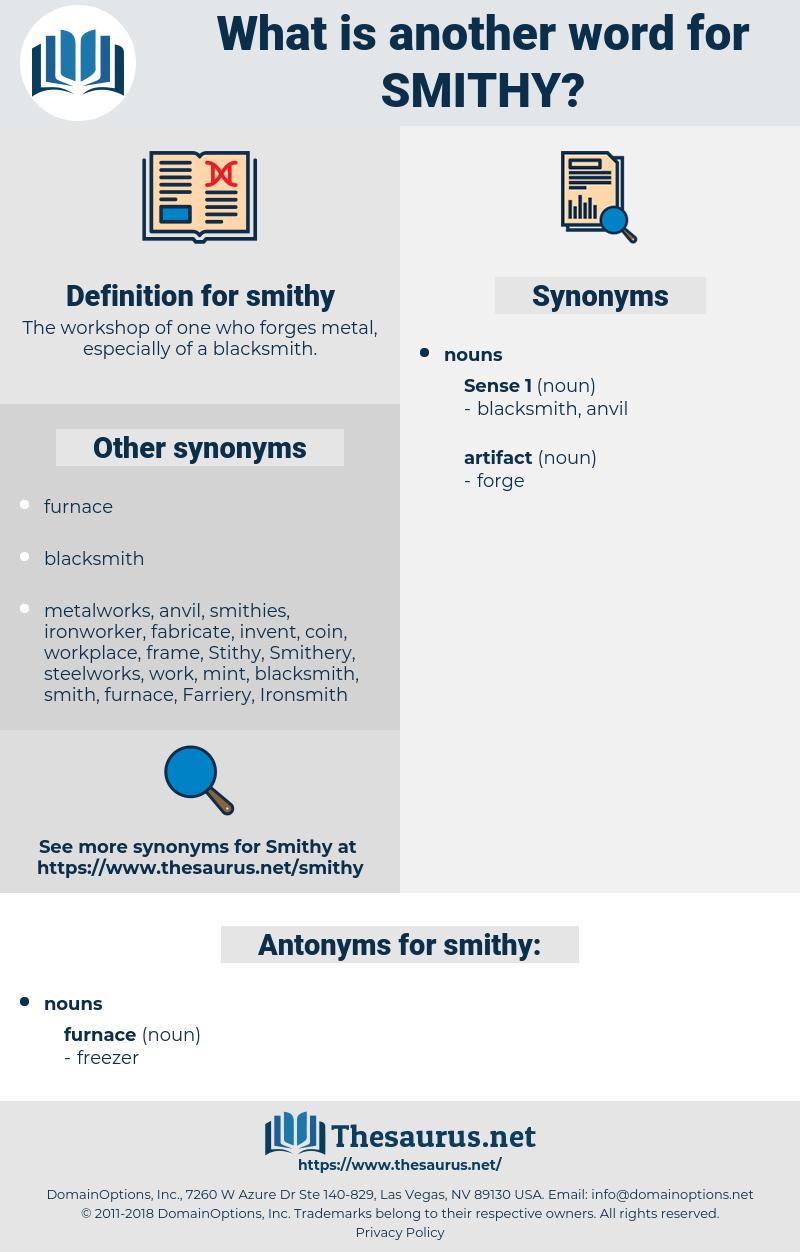 smithy, synonym smithy, another word for smithy, words like smithy, thesaurus smithy