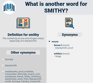 smithy, synonym smithy, another word for smithy, words like smithy, thesaurus smithy