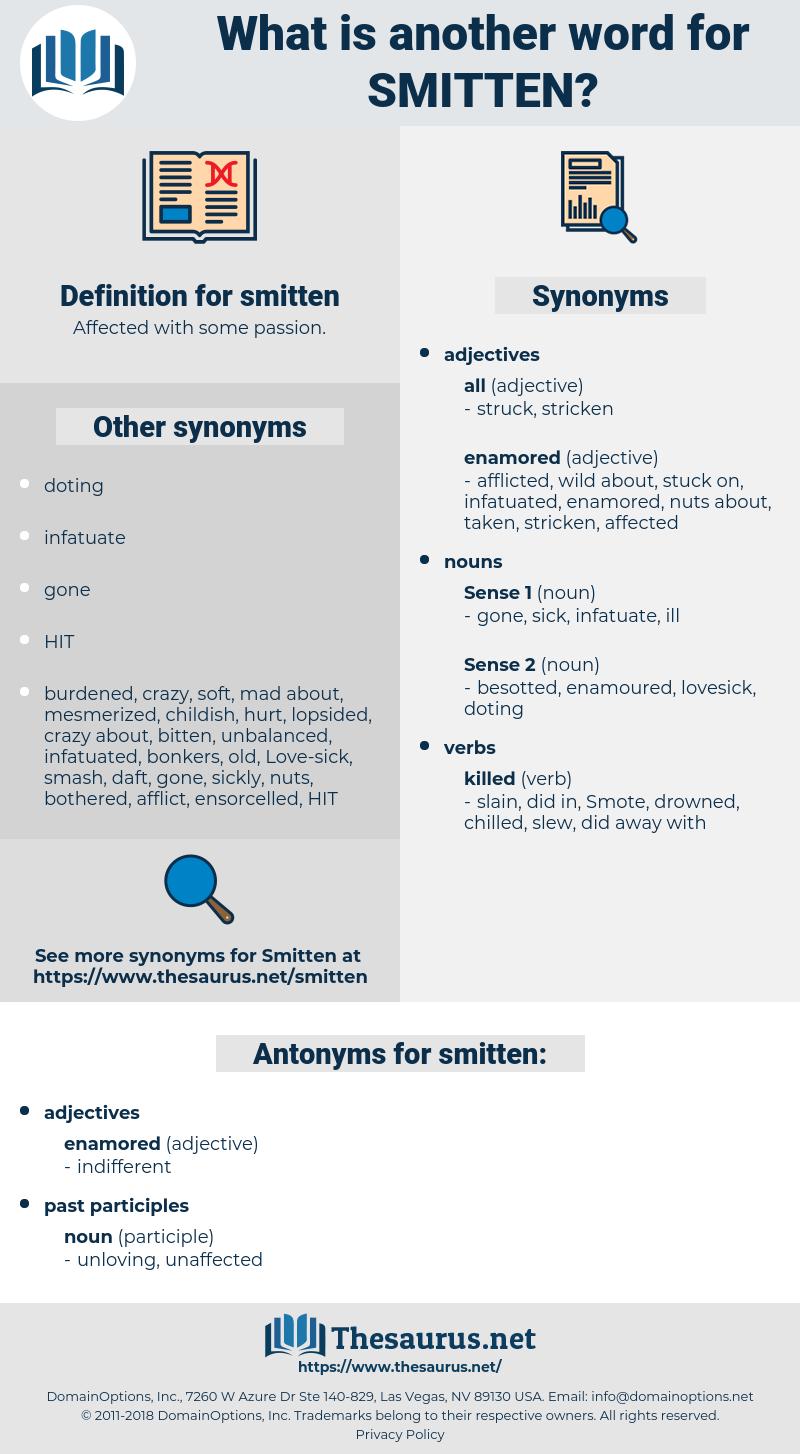 smitten, synonym smitten, another word for smitten, words like smitten, thesaurus smitten