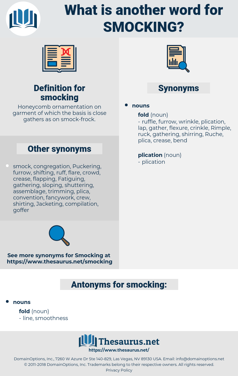 smocking, synonym smocking, another word for smocking, words like smocking, thesaurus smocking