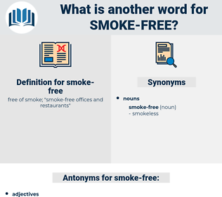 smoke-free, synonym smoke-free, another word for smoke-free, words like smoke-free, thesaurus smoke-free
