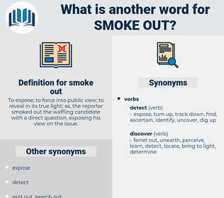 smoke out, synonym smoke out, another word for smoke out, words like smoke out, thesaurus smoke out