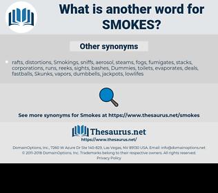 smokes, synonym smokes, another word for smokes, words like smokes, thesaurus smokes