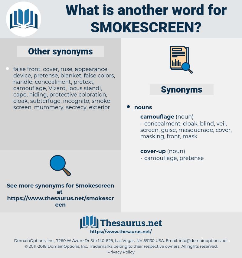 smokescreen, synonym smokescreen, another word for smokescreen, words like smokescreen, thesaurus smokescreen