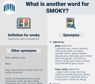 smoky, synonym smoky, another word for smoky, words like smoky, thesaurus smoky