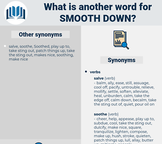 smooth down, synonym smooth down, another word for smooth down, words like smooth down, thesaurus smooth down
