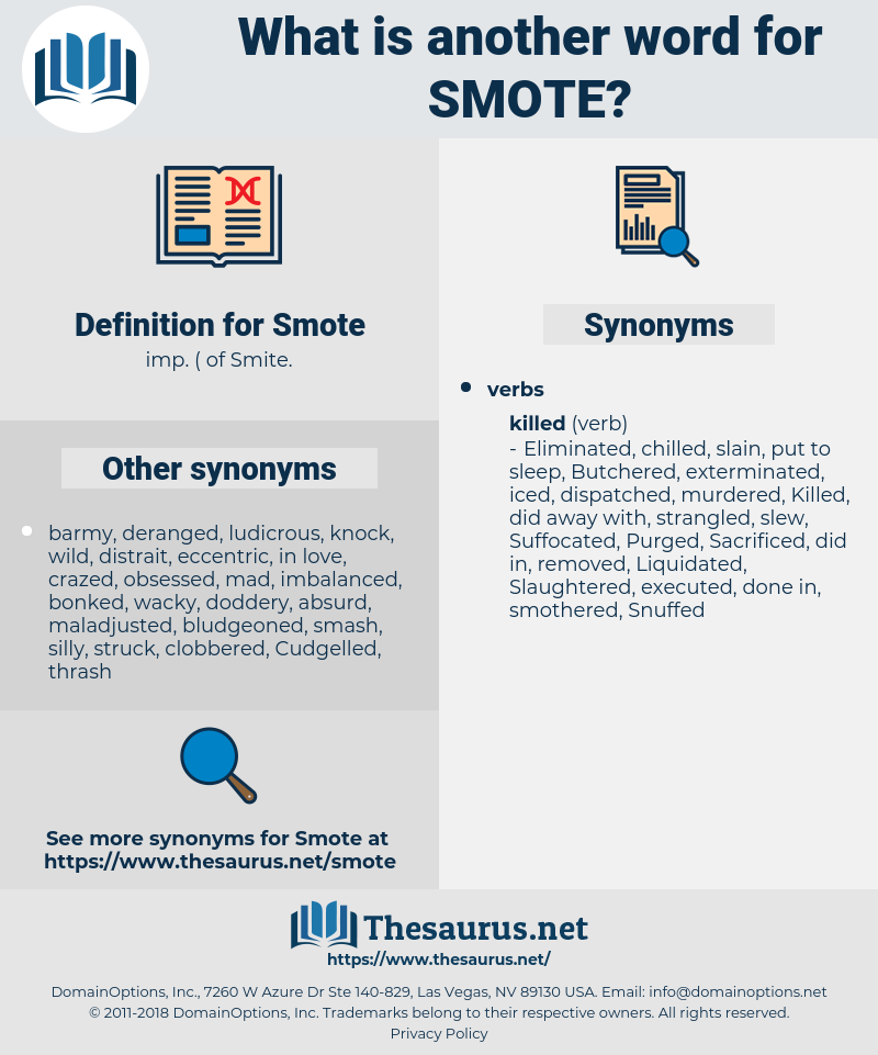 Smote, synonym Smote, another word for Smote, words like Smote, thesaurus Smote