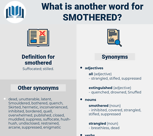 smothered, synonym smothered, another word for smothered, words like smothered, thesaurus smothered
