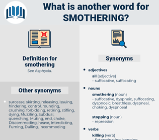 smothering, synonym smothering, another word for smothering, words like smothering, thesaurus smothering