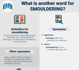 smouldering, synonym smouldering, another word for smouldering, words like smouldering, thesaurus smouldering