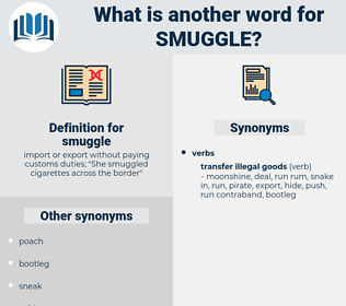 smuggle, synonym smuggle, another word for smuggle, words like smuggle, thesaurus smuggle