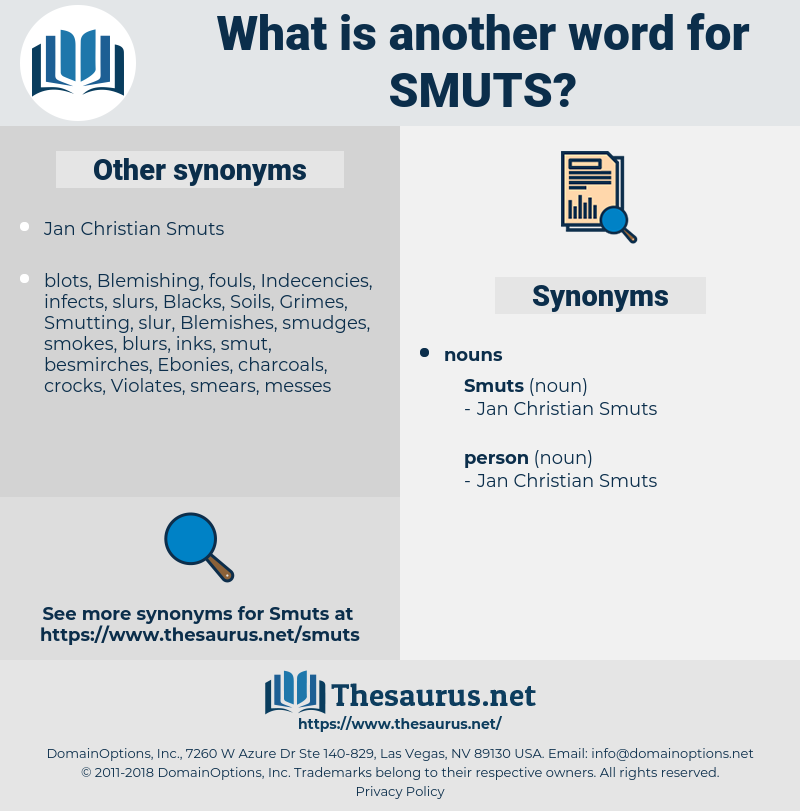 smuts, synonym smuts, another word for smuts, words like smuts, thesaurus smuts