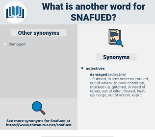 snafued, synonym snafued, another word for snafued, words like snafued, thesaurus snafued