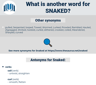 Snaked, synonym Snaked, another word for Snaked, words like Snaked, thesaurus Snaked
