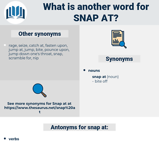 snap at, synonym snap at, another word for snap at, words like snap at, thesaurus snap at