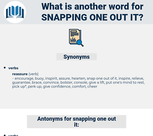 snapping one out it, synonym snapping one out it, another word for snapping one out it, words like snapping one out it, thesaurus snapping one out it