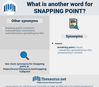 snapping point, synonym snapping point, another word for snapping point, words like snapping point, thesaurus snapping point