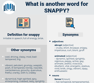 snappy, synonym snappy, another word for snappy, words like snappy, thesaurus snappy