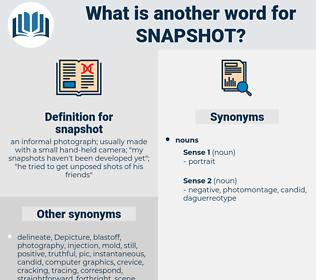 snapshot, synonym snapshot, another word for snapshot, words like snapshot, thesaurus snapshot