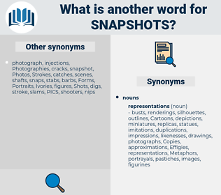snapshots, synonym snapshots, another word for snapshots, words like snapshots, thesaurus snapshots