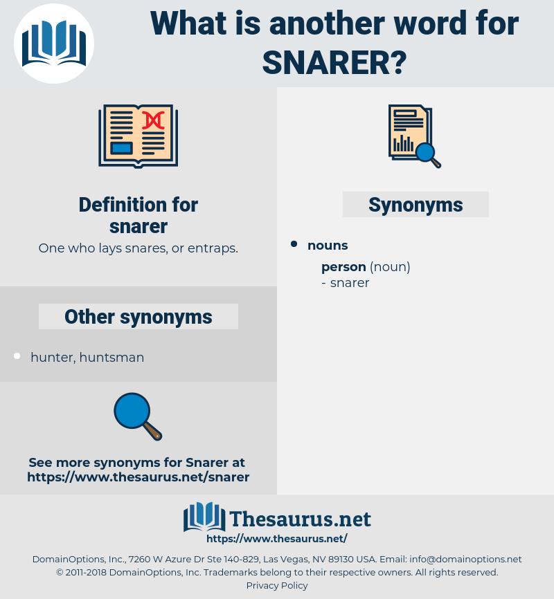 snarer, synonym snarer, another word for snarer, words like snarer, thesaurus snarer