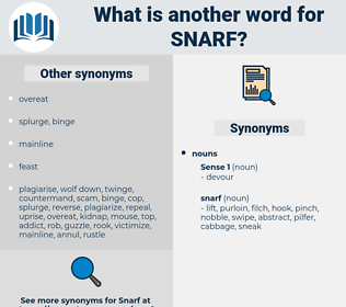 snarf, synonym snarf, another word for snarf, words like snarf, thesaurus snarf