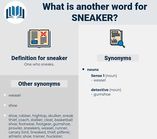 sneaker, synonym sneaker, another word for sneaker, words like sneaker, thesaurus sneaker