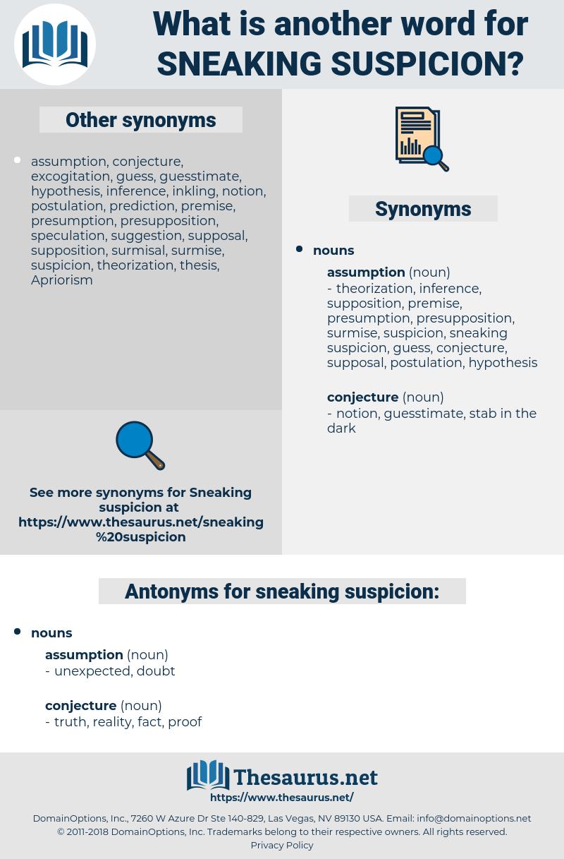 sneaking suspicion, synonym sneaking suspicion, another word for sneaking suspicion, words like sneaking suspicion, thesaurus sneaking suspicion