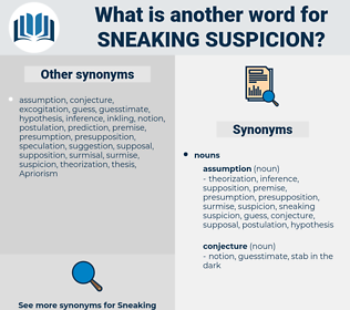 sneaking suspicion, synonym sneaking suspicion, another word for sneaking suspicion, words like sneaking suspicion, thesaurus sneaking suspicion