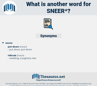sneer, synonym sneer, another word for sneer, words like sneer, thesaurus sneer