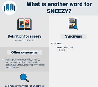 sneezy, synonym sneezy, another word for sneezy, words like sneezy, thesaurus sneezy
