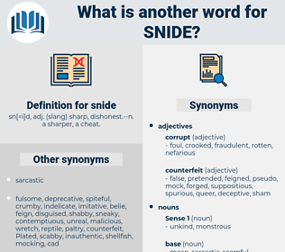 snide, synonym snide, another word for snide, words like snide, thesaurus snide