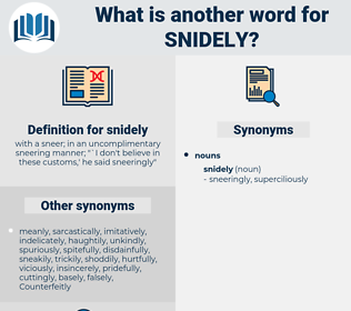 snidely, synonym snidely, another word for snidely, words like snidely, thesaurus snidely