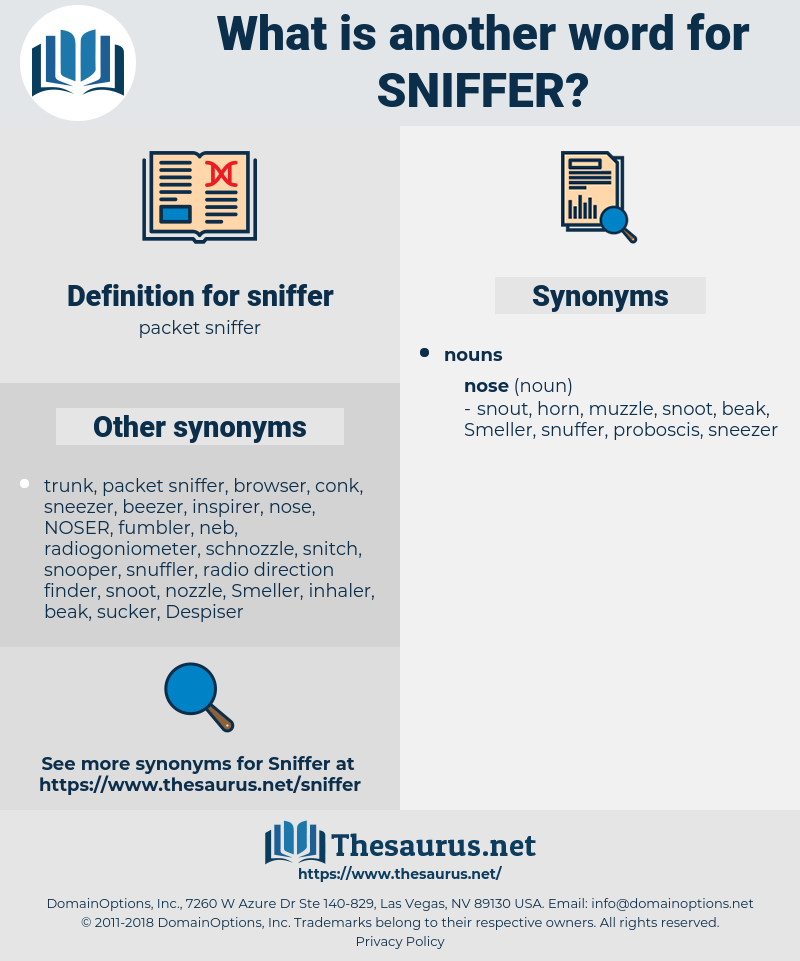 sniffer, synonym sniffer, another word for sniffer, words like sniffer, thesaurus sniffer