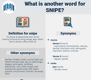snipe, synonym snipe, another word for snipe, words like snipe, thesaurus snipe