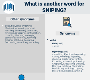 Sniping, synonym Sniping, another word for Sniping, words like Sniping, thesaurus Sniping