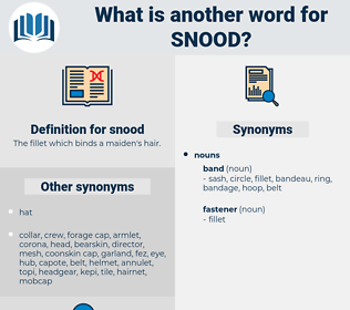 snood, synonym snood, another word for snood, words like snood, thesaurus snood