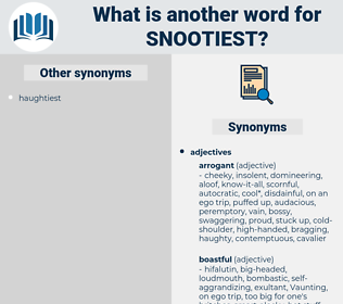 snootiest, synonym snootiest, another word for snootiest, words like snootiest, thesaurus snootiest