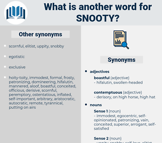 snooty, synonym snooty, another word for snooty, words like snooty, thesaurus snooty