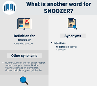 snoozer, synonym snoozer, another word for snoozer, words like snoozer, thesaurus snoozer
