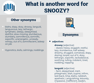 snoozy, synonym snoozy, another word for snoozy, words like snoozy, thesaurus snoozy