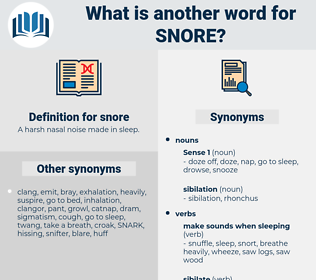 snore, synonym snore, another word for snore, words like snore, thesaurus snore