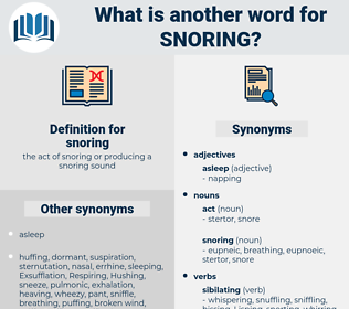snoring, synonym snoring, another word for snoring, words like snoring, thesaurus snoring